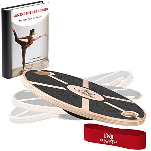 NAJATO Sports Balance Board – Wackelbrett mit rutschfestem gummiertem Standfuß – Gleichgewichtstrainer...