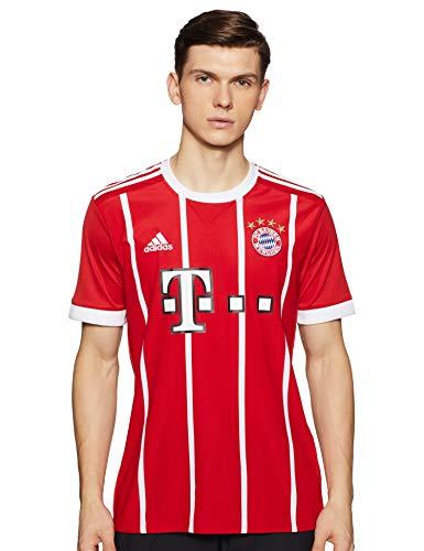 adidas Herren FC Bayern Heim Trikot, FCB True Red/White, M