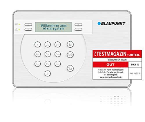 Blaupunkt SA 2900 Smart GSM Funk-Alarmanlage / Funk-Sicherheitssystem Set mit Bewegungsmelder,...