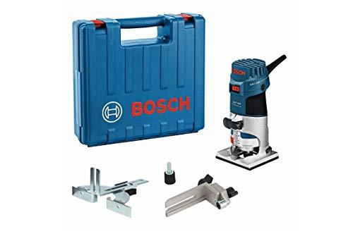 Bosch Professional Kantenfräse GKF 600 (inkl. Maulschlüssel, Parallelanschlag, Führungshilfe, Spannzangen...