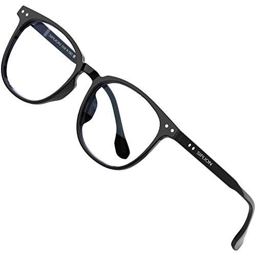SIPLION Blaulichtfilter Brille Damen Herren ohne sehstärke Blockieren Blaulicht Gaming brille Computerbrille...