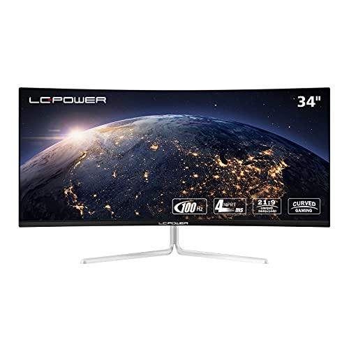 LC-POWER LC-M34-UWQHD-100-C-V2 34 Zoll(86,36cm) Ultra WQHD Gaming Curved Monitor (21:9, 3440 x 1440, 100...