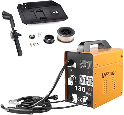 MVPOWER Trafo-Schweißgerät MIG130 Elektrodenschweißgerät Profi Elektroden Schweißmaschine 120A 230V inkl....