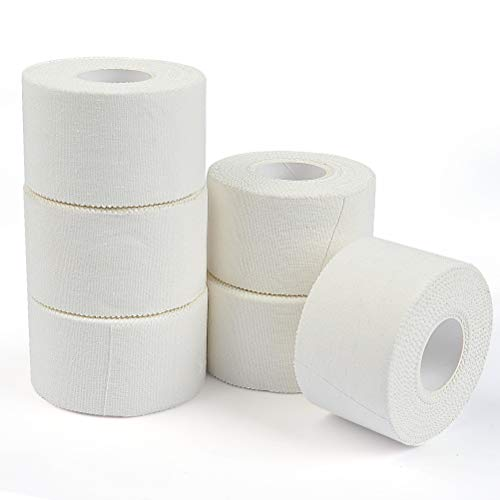 ATPWONZ 6 Rollen Sport Tape weiß Sporttape Set 3.8cm x 10m aus 100% Baumwolle, Tapeverband für...