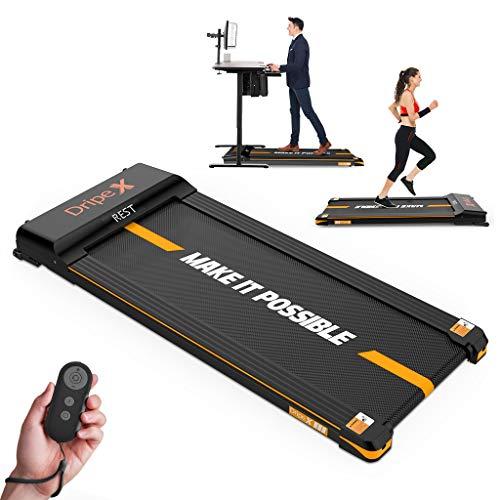 Dripex Laufband elektrisch leise, Treadmill 1-6 km/h einstellbar, 500W Motor mit Fernbedienung und LCE...