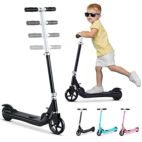 Elektro Scooter für Kinder, Elektro Kinderroller ab 6 bis 12 Jahren, Electric Roller 8 km/h, 5.5' Vollreifen,...