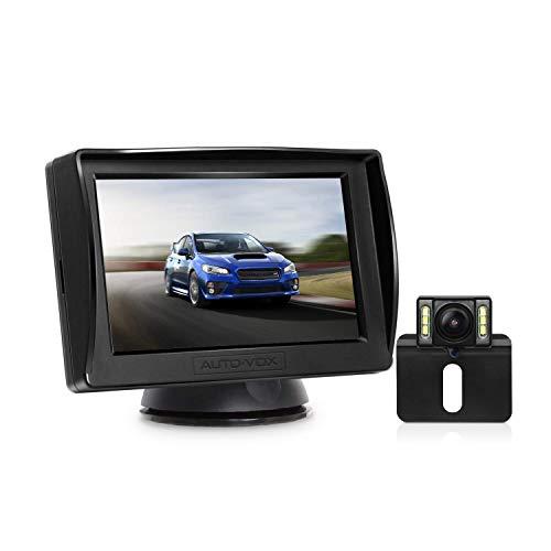AUTO-VOX M1PRO Rückfahrkamera Set mit 4,3'' TFT LCD Monitor, IP68 wasserdichte Rückfahrkamera mit...