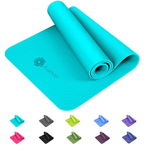 Aisoco Yogamatte, aus umweltfreundlichem TPE-Schaum. Gymnastik Matte, Übungsmatten, rutschfest,...