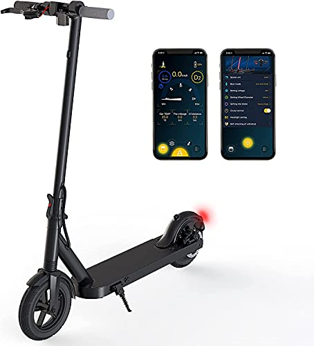 Electric Scooter Adult mit 350W Motor - E-Scooter 32km/h Schnelles Elektrofahrrad mit Bluetooth App Steuerung,...
