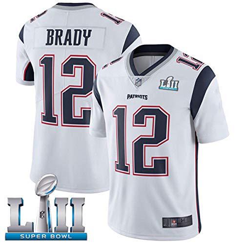 HXSON 12# Tom Brady New England Patriots Rugby Trikot Fuball Trikot-Herren Poloshirt Trainingshemden...