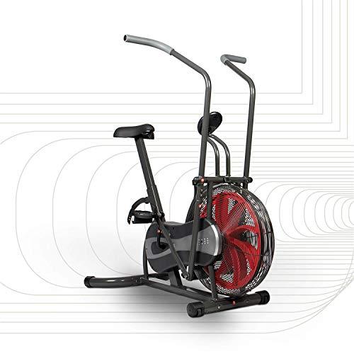 SportPlus Air Bike mit Luftwiderstand und Riemenbremssystem - effizienter HIIT Heimtrainer für Arme und...