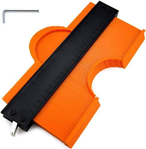 Konturenlehre mit Feststeller 25cm einstellbares Markierungswerkzeug Konturmessgerät mit Skala Messwerkzeug...