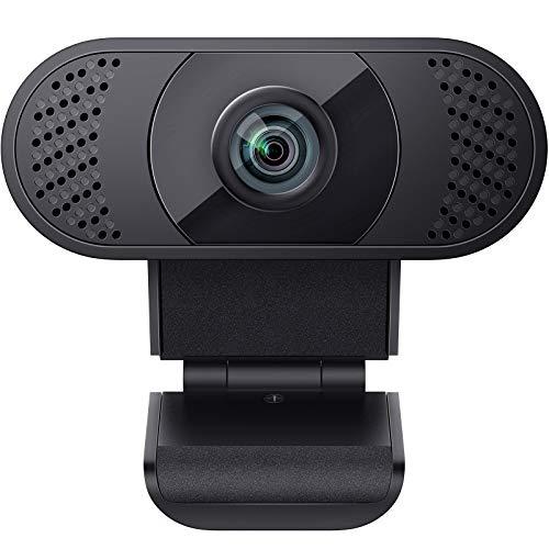 wansview Webcam 1080P mit Mikrofon, Webcam USB 2.0 Plug und Play für Laptop, PC, Desktop, mit automatischer...