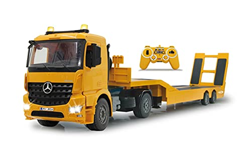 JAMARA 405107 - Tieflader Mercedes Arocs 1:20 2,4GHz - An- und Abkoppeln Tieflader, Tiefladerabstützung +...
