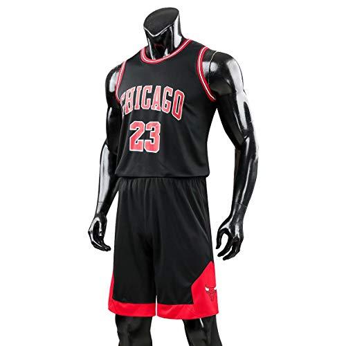 JX-PEP Männer- und Unisex Basketball T-Shirt 23# Retro Basketball Shorts Trikots Basketball Uniform Top &...