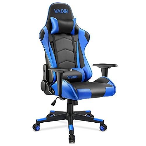 VADIM Gaming Stuhl Bürostuhl, Gamer Stuhl Ergonomischer Schreibtischstuhl Höhenverstellbarer, PU Leder...