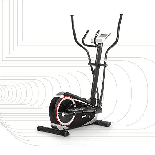 SportPlus Crosstrainer für zuhause - 24 Stufen & 24 Trainingsprogramme, ca. 17 kg Schwungmasse, Sicherheit...