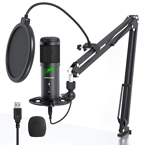 USB Podcast Mikrofon, SUDOTACK Professional ST900 Streaming Mikrofon 192KHz /24Bit Studio Nieren Kondensator...