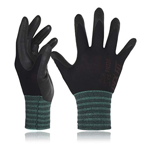 DEX FIT Gartenhandschuhe FN320, 3D Komfort Stretch Fit, Power Grip, Strapazierfähiges Schaumnitril, Dünnes &...