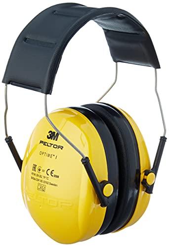 3M Peltor Optime I Kapselgehörschützer gelb - Gehörschutz mit verstellbarem Kopfbügel für Lärm bis 98dB...