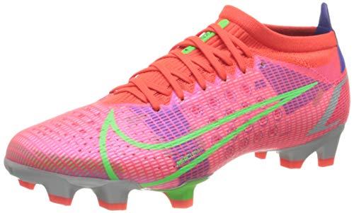 Nike Herren Mercurial Vapor 14 Pro FG Football Shoe, Bright Crimson/Metallic Silver-Indigo Burst-White-Rage...