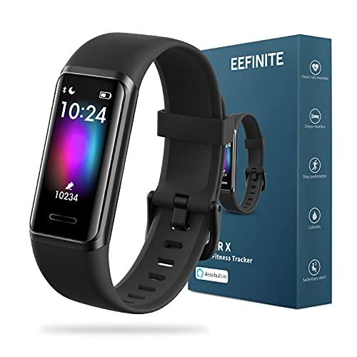 EEFINITE Fitness Tracker mit Alexa Built-in, 5ATM wasserdicht Aktivität Tacker mit Blutsauerstoff...