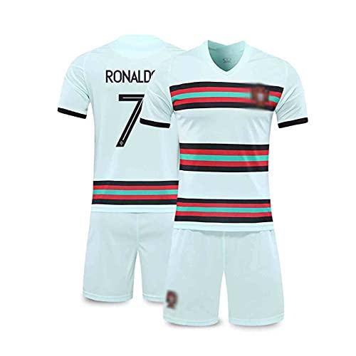 2021 Rónaldó Portugal Home Und Away Football Jersey, Erwachsene Und Kinderanzug, Atmungsaktiv Und Schnell...