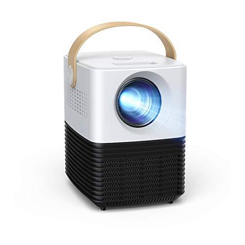 Mini Beamer, APEMAN Unterstützt 1080P Video Projektor, ±30° Elektronische Korrektur, Dual Lautsprecher,...