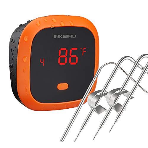 Inkbird Grillthermometer IBT-4XC mit IPX5 Wasserdicht, Grillthermometer Bluetooth Fleischthermometer mit 4...