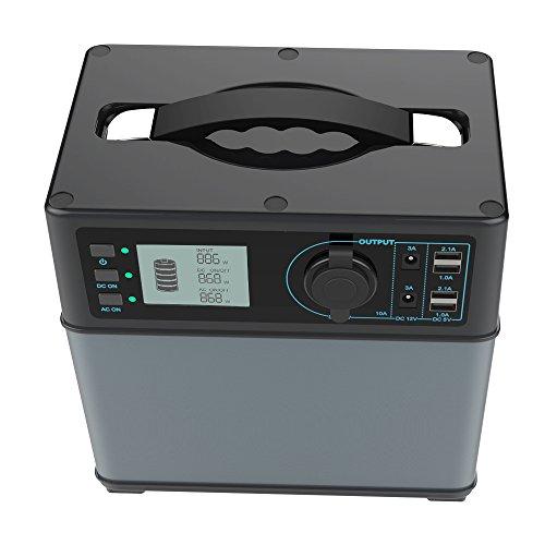 Hochleistungsakku Generator 400Wh Tragbare Energiespeicher mit Lithium-Ionen Zellen Solar Generator(Super...