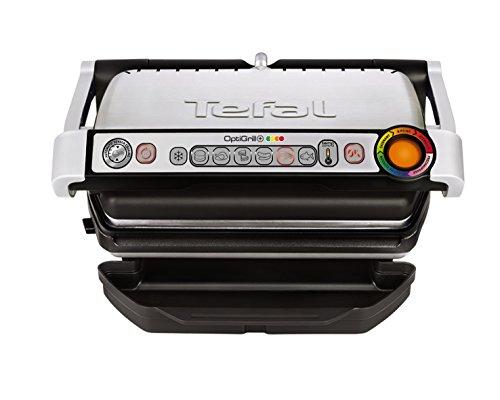 Tefal OptiGrill+ GC712D Kontaktgrill fr ideale Grillergebnisse, 2.000 Watt, aut. Anzeige d. Garzustands, 6...