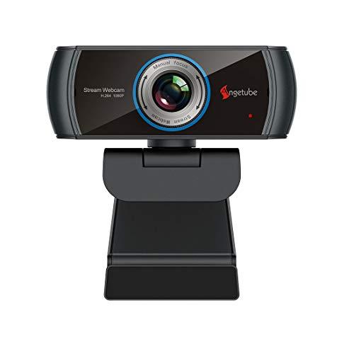 HD Gaming Webcam 1080P mit Mikrofon,USB PC Streaming Webcam mit Breitbild-Videoanrufen und...