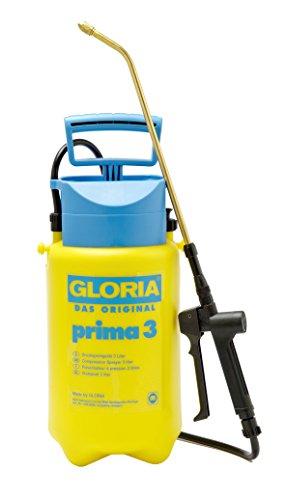 GLORIA Drucksprüher prima 3 | Gartenspritze | 3 L Füllinhalt | Verstellbare Messingdüse | Kompakt für den...