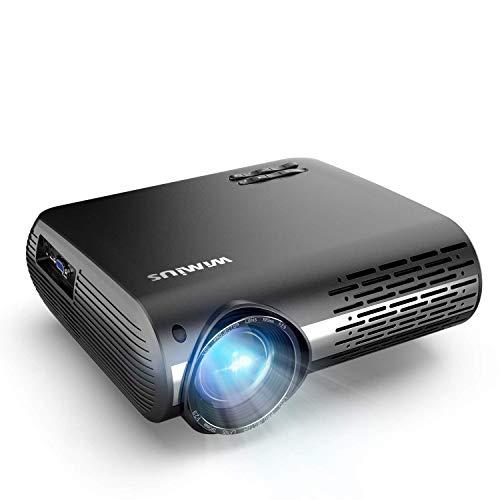 Beamer, WiMiUS 7000 Lumen Video Beamer Full HD 1920x1080P Unterstützung 4K Video 4D ± 50 ° Elektronische...