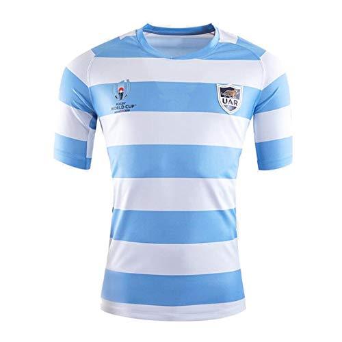2019 Tonga World Cup Rugby Trikot, Argentinien FußBall T-Shirt Herren Kurzarm Trikots-Blue-L