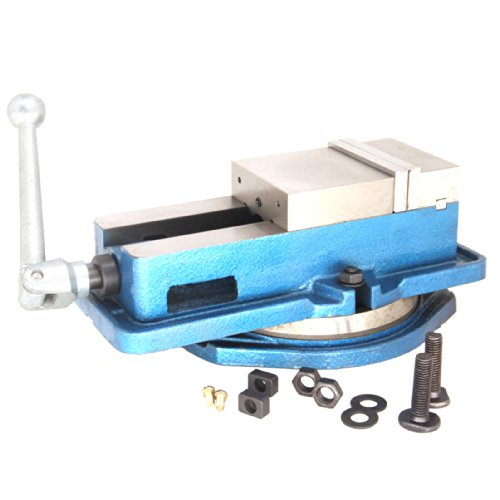 Feststellschraubstock für Fräsmaschinen, 360 Grad drehbarer Sockel, gehärtetes Metall, CNC-Schraubstock,...