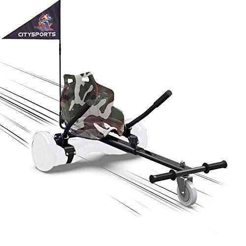 MARKBOARD Hoverkart Sitzscooter Gokart, Hovergokart, Hovercart, Sitz für Self Balancing Scooter, Kompatibel...