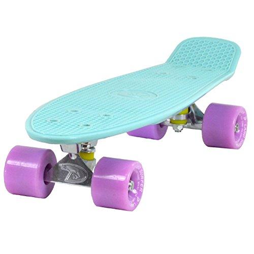 Land Surfer® Retro Cruiser, komplettes Skateboard mit 56-cm-Deck - ABEC-7-Kugellager - Farbige oder...