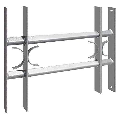 Sicherheitsgitter Fenstergitter Fenster Keller Einbruchschutz Ausziehgitter ausziehbar Schutzgitter Stahl...