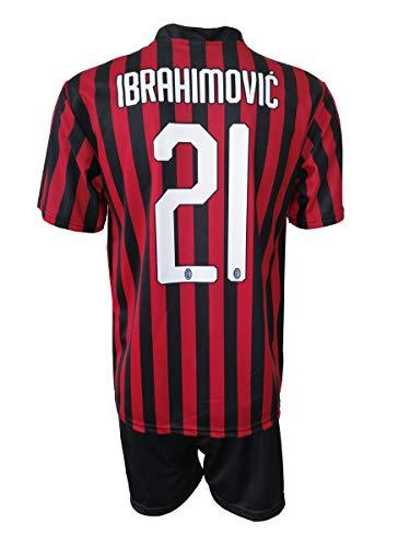 L.C. Sport Milan Zlatan Ibrahimovic 21 Replik authorisiert 2019-2020 Kinder (Größen 2 4 6 8 10 12)...