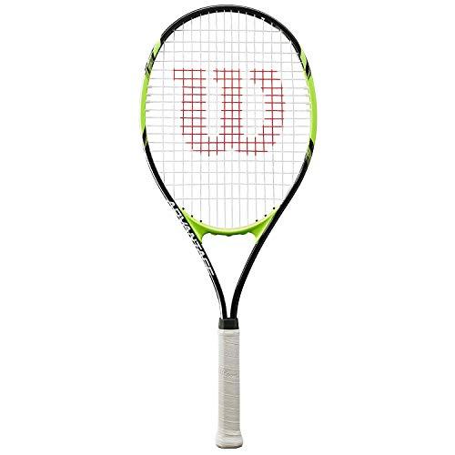 Wilson Tennisschläger, Advantage XL, Unisex, Anfänger und Freizeitspieler, Griffstärke L3, Schwarz/Grün,...