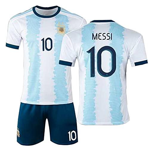DFGVB 2021 Messi Argentinien Home Jersey Messi Nr. 10 Nr.11 No.17 Nr. 21 Erwachsene Kinderfußball-Hemd,...