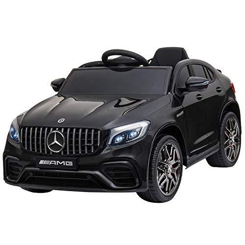 HOMCOM Kinderfahrzeug Elektroauto mit Fernbedienung MP3 Sicherheitsgurt 3–8 Jahre PP Schwarz 115 x 70 x 55...