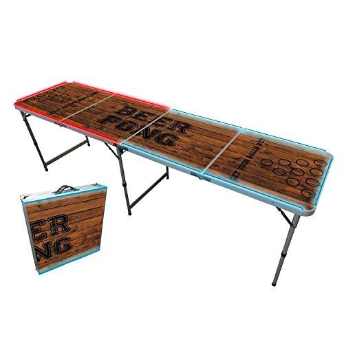 Offizieller Light Beer Pong Tisch | Mit LED Beleuchtung | Premium Qualität | Offizielle Wettkampfmaße | LED...