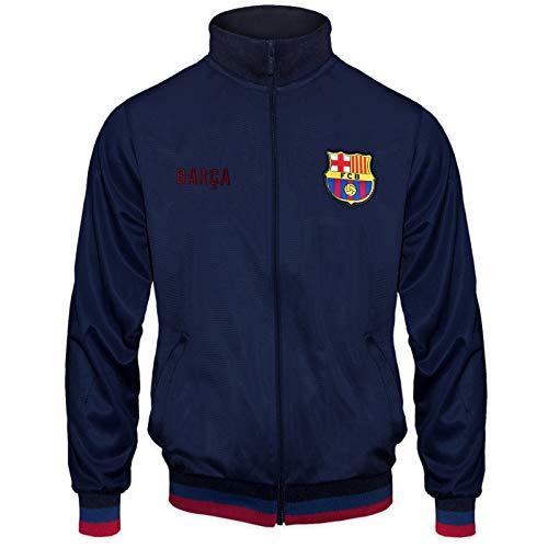 FC Barcelona - Herren Trainingsjacke im Retro-Design- Offizielles Merchandise - Geschenk für Fußballfans -...