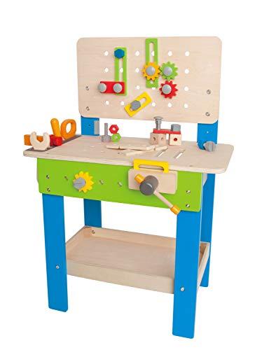 Hape Meister-Werkbank   Preisgekrönte Werkzeugbank für Kinder aus Holz Spielzeug Spiel kreatives Bauen,...