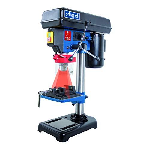 Scheppach 5906808901 Bohrmaschine / Tischbohrmaschine DP16VL | vielseitige Einsatzmöglichkeiten, für Holz,...