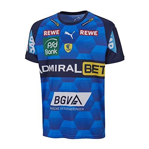 PUMA Handball RNL Away Trikot Rhein Neckar Löwen M-XL Electric Blue NEU, Größe:M