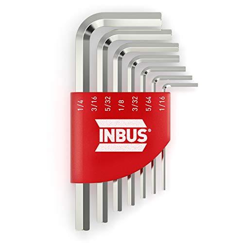INBUS® 70389 Inbusschlüssel Set (Zoll) 7tlg, 1/16–1/4' — Made in Germany