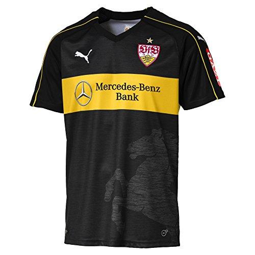 PUMA Herren Trikot VfB Stuttgart 3rd Replica Shirt w.Sponsor, Puma Black-Dandelion, S, 924548